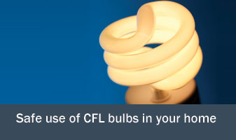 Safe CFL use in the home